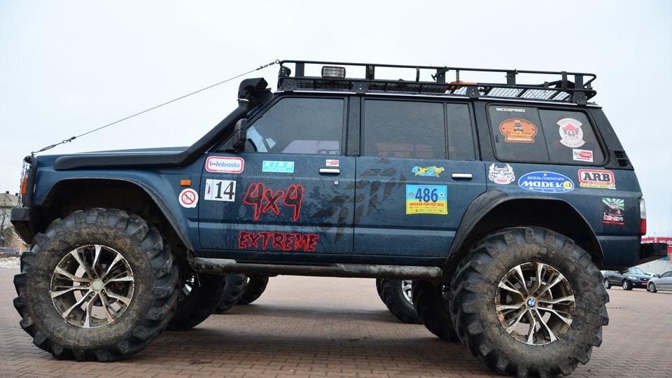 nissan patrol y60 резина на 35