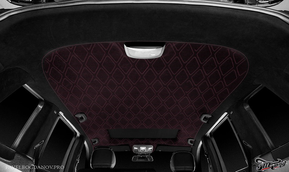 Mercedes GL (w166). Разработка дизайн-проекта пошива потолка