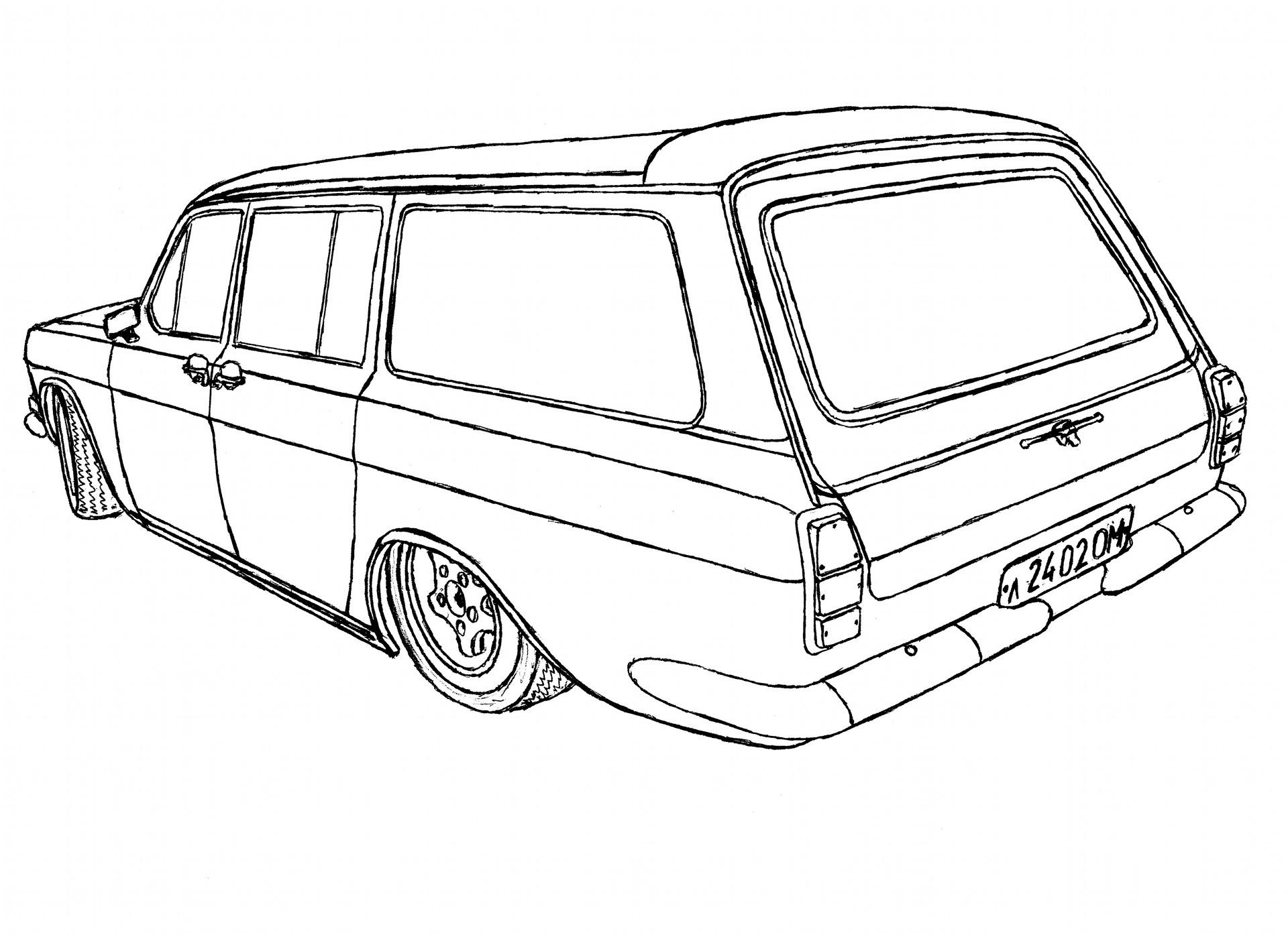 раскраска советские автомобили страна предлагает уникальную