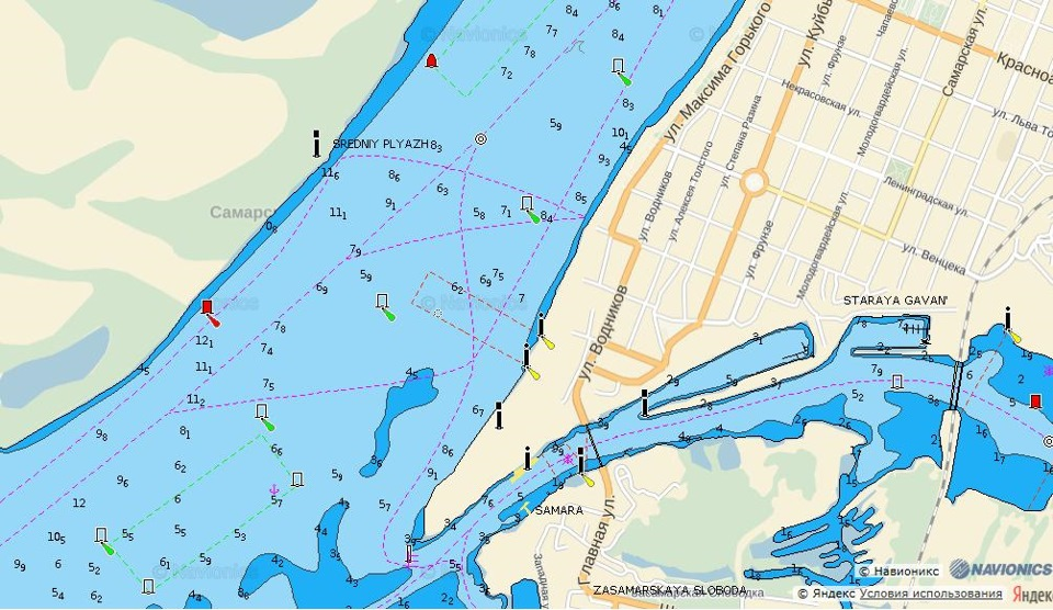 Интерактивная карта глубин