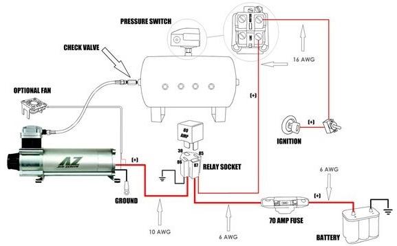 Реле давления компрессора схема подключения фото 352
