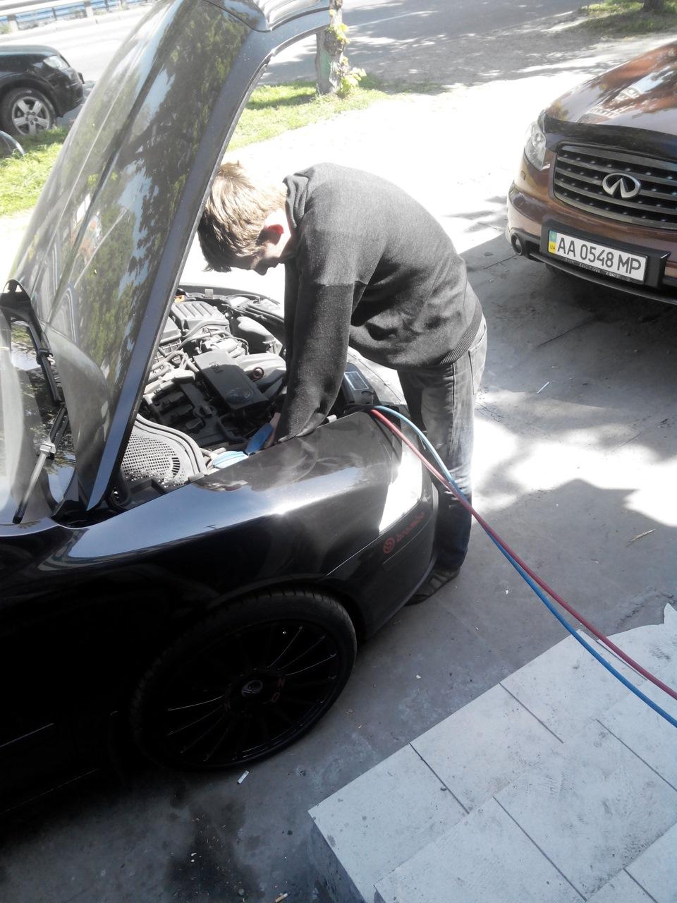 Заправка кондиционера шкода октавия а5 Замена сальника привода лексус rx350 цены