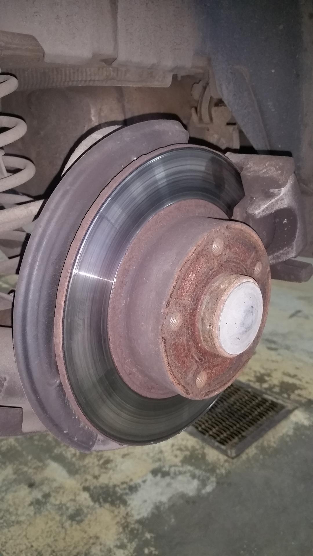 renault megane 2 изношенный тормозной диск фото