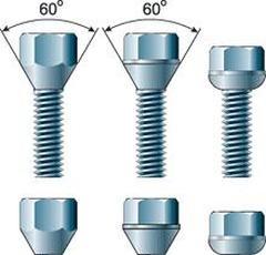 Рис. 1. Разновидности колесного крепежа
