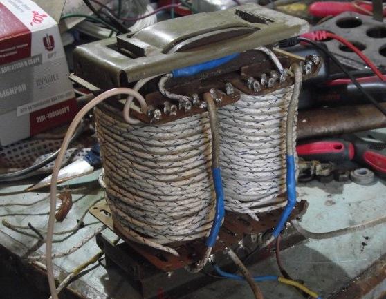 Домотанный трансформатор.