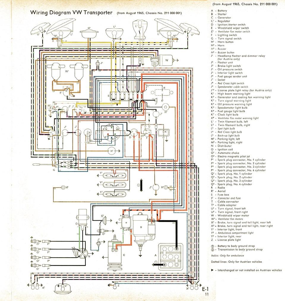 электрическая схема проводки фольксваген т2