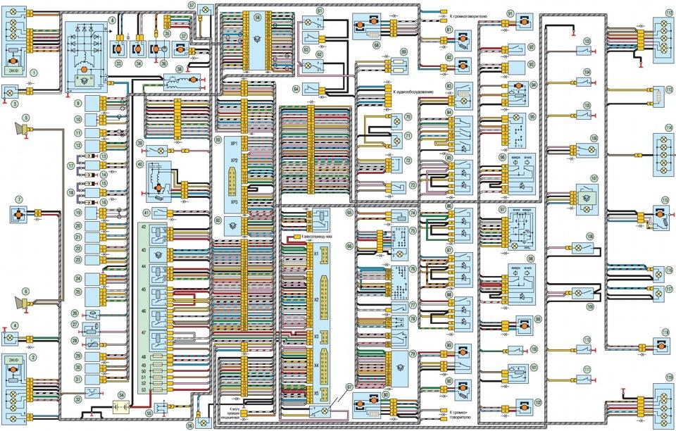 уаз патриот 2013 электрическая схема