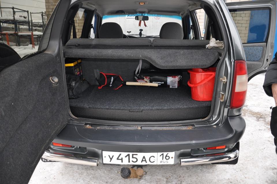 Фото багажника шевроле нива