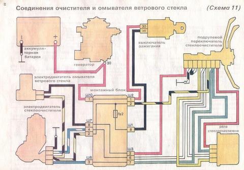 Монтажная электросхема Ваз 2107.