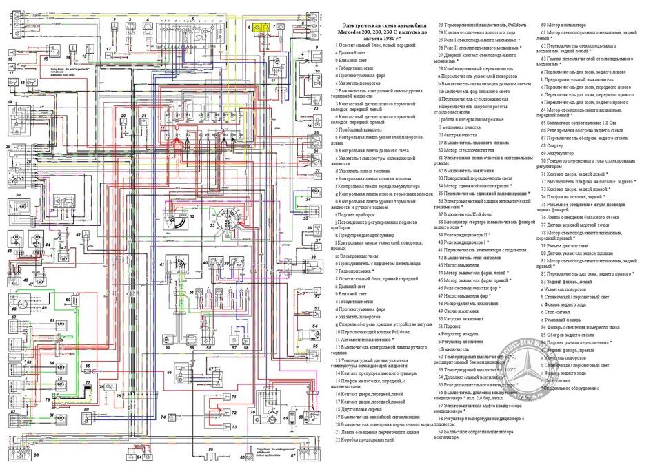 Электрическая схема 200, 230,