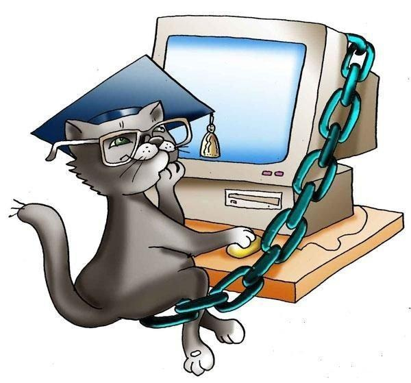 Кот ученый смешные картинки