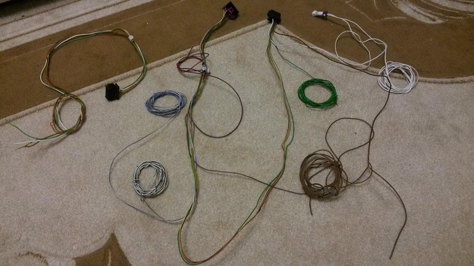 Первоначальный вид проводки.