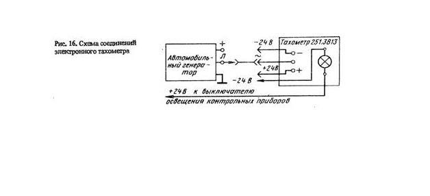 тахометр камаз схема