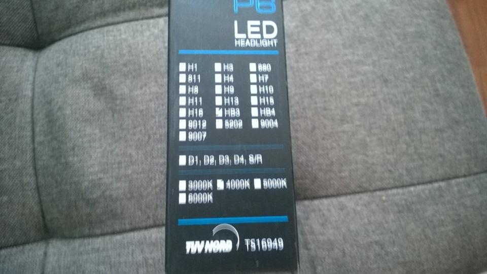 Замена ламп ближнего света на диодные