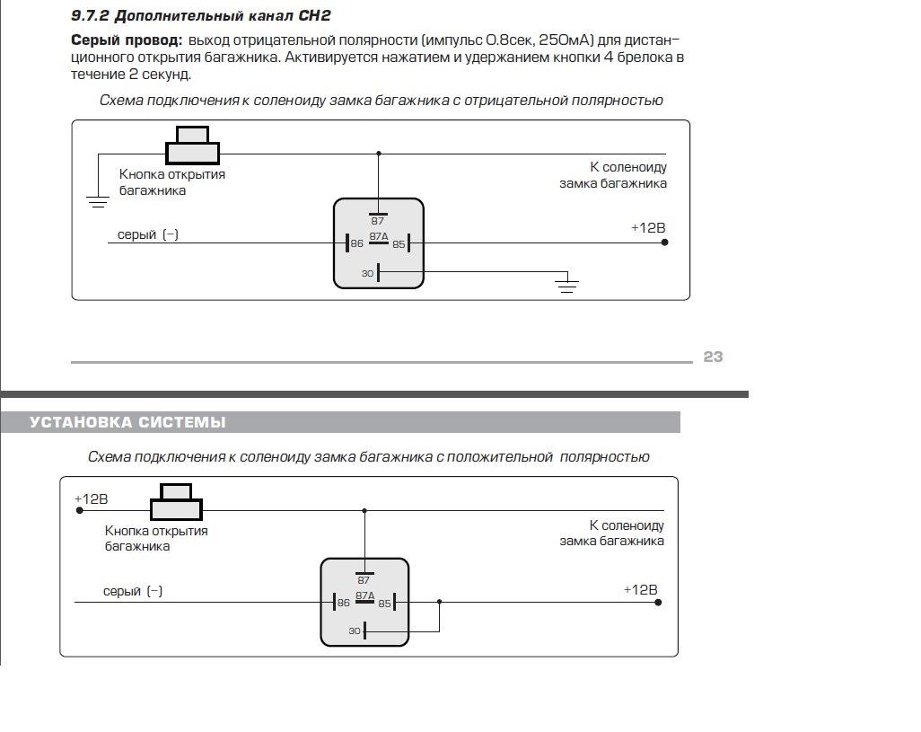 Схема подключения замка багажника фото 453