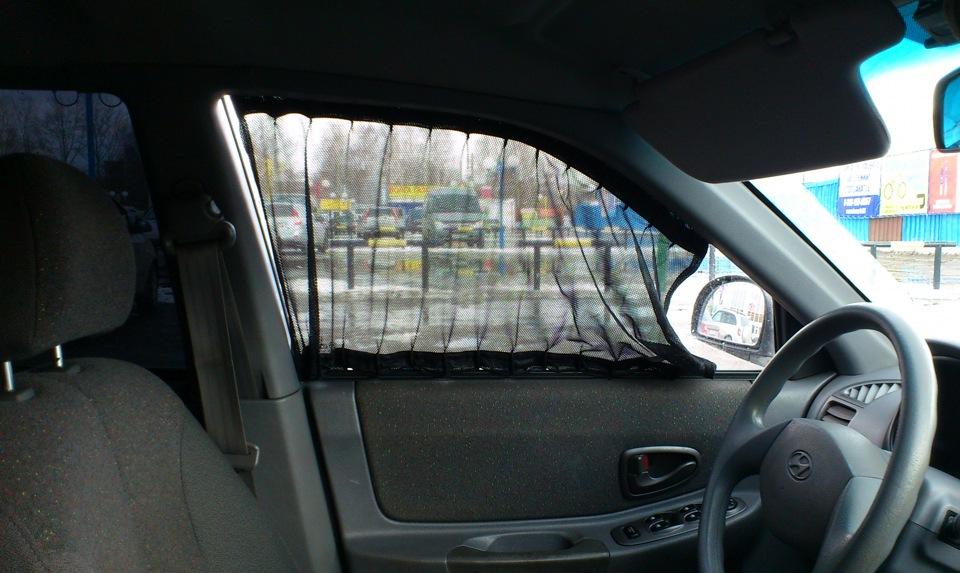 Шторка для автомобиля на боковое стекло своими руками