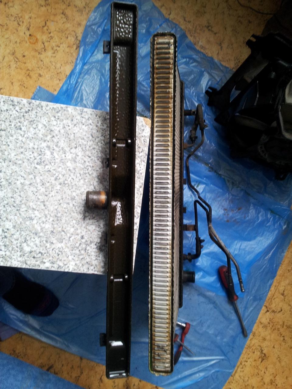 Верхний бачок радиатора