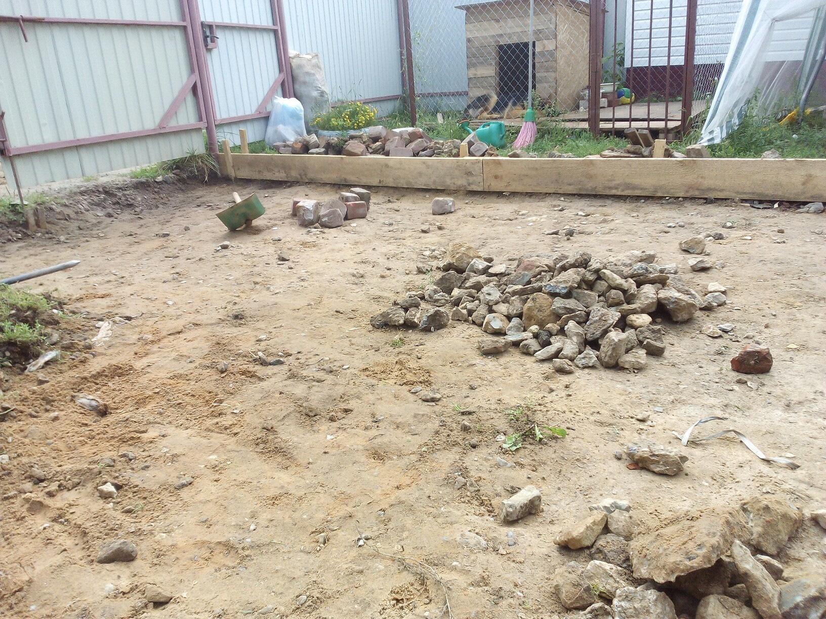 как подготовить площадку под бетонирование