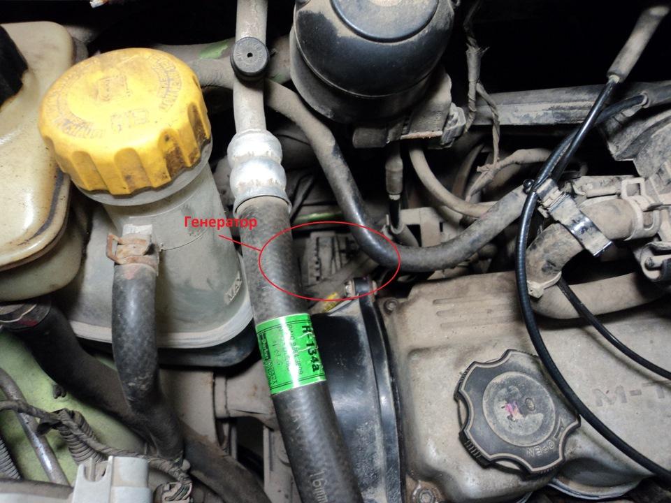 Замена щеток генератора Daewoo Matiz 1998-2 12