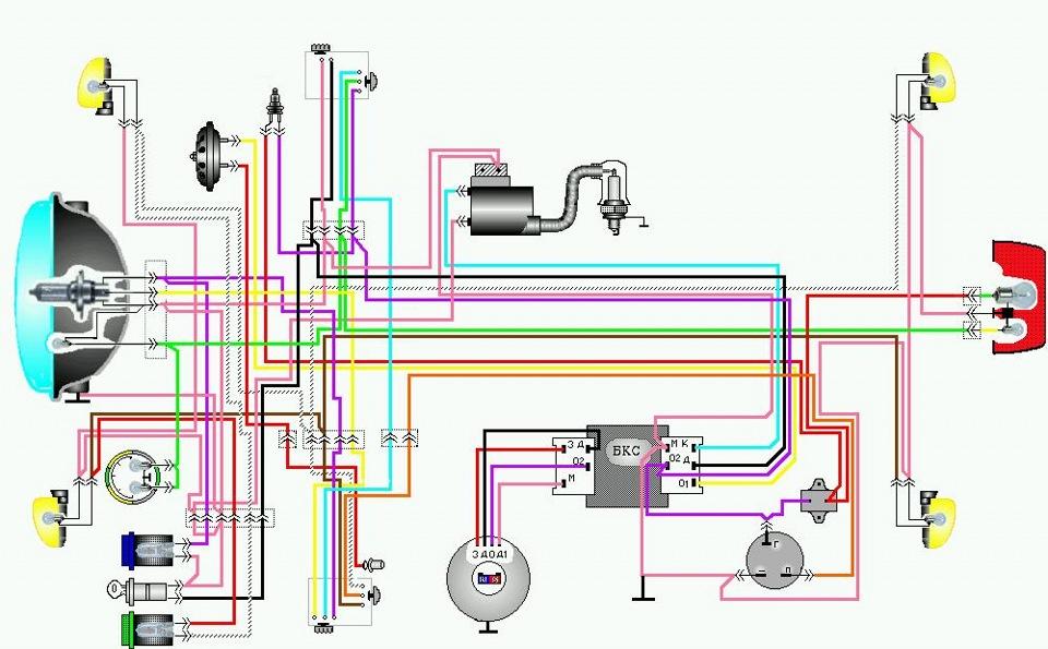 Схема эл.проводки Сова-Восход