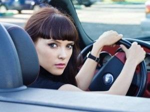 Сексуальные девочки за рулем