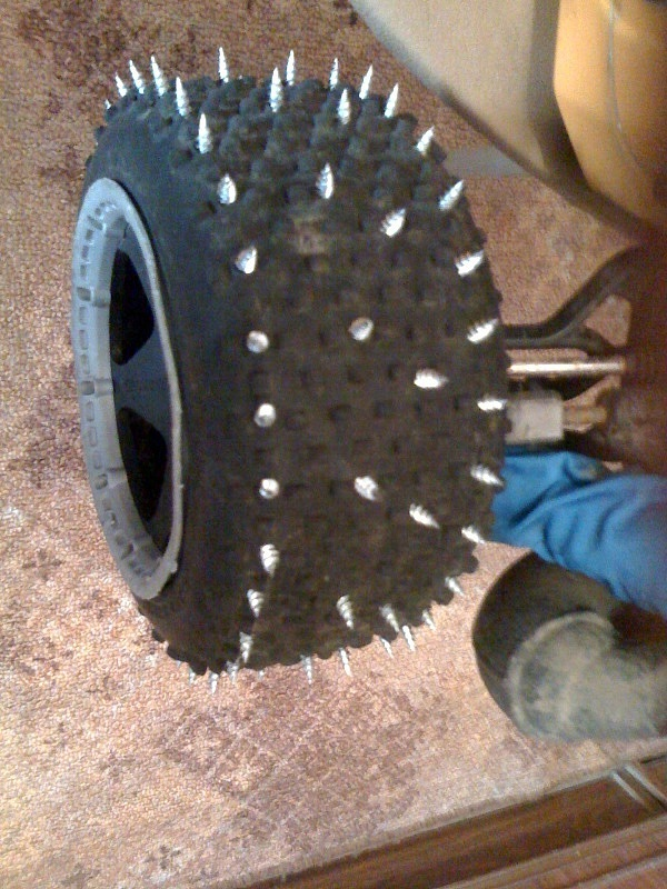 Шиповка колес своими руками 144