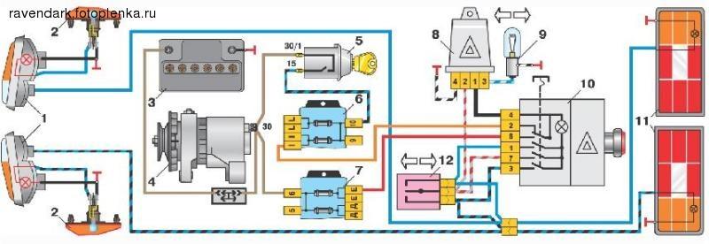 Кнопка аварийки ваз 2106 схема