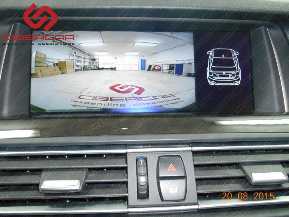 Камера переднего вида на штатном экране BMW F10 528i xDrive.