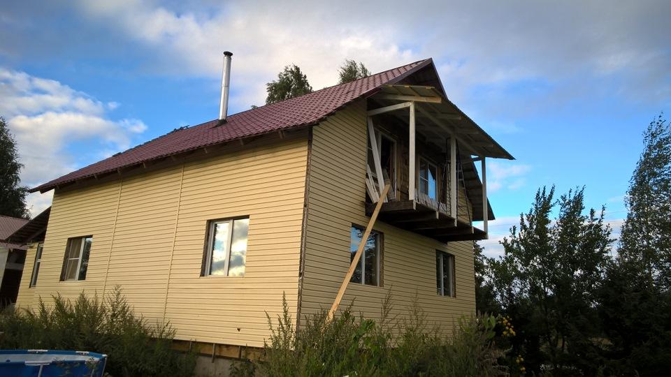 """Балкон в частном доме своими руками - community """"строительст."""