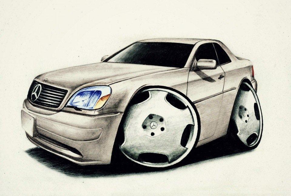 Прикольные рисунки как машины, открытки для
