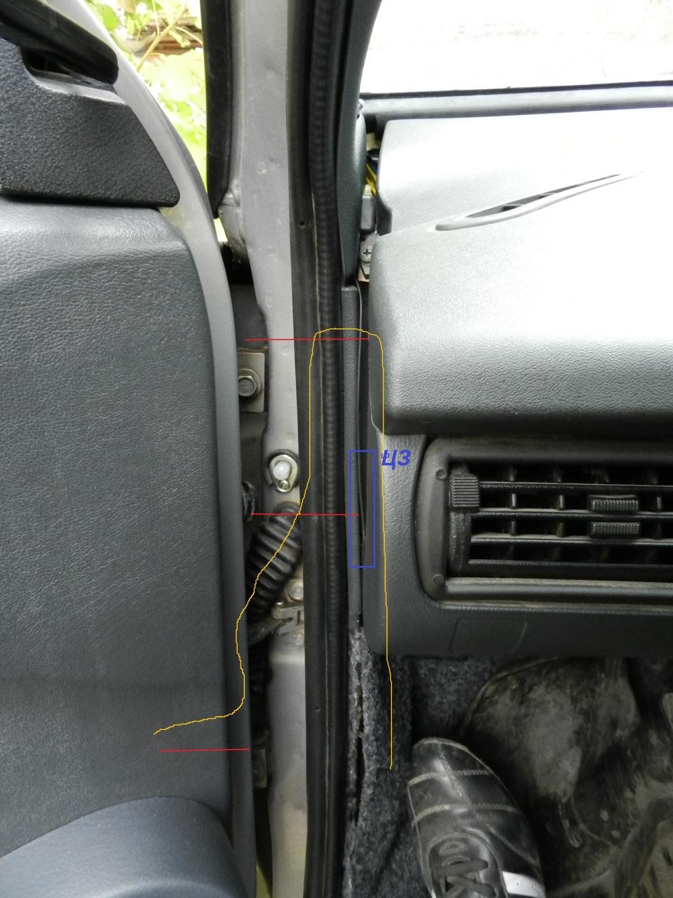 схема подключения электро подогрева зеркал