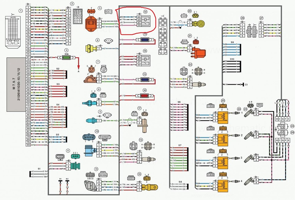На схеме показаны провода