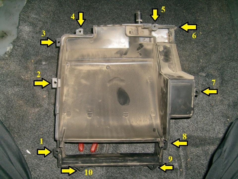 Как снять печку на шевроле ланос видео