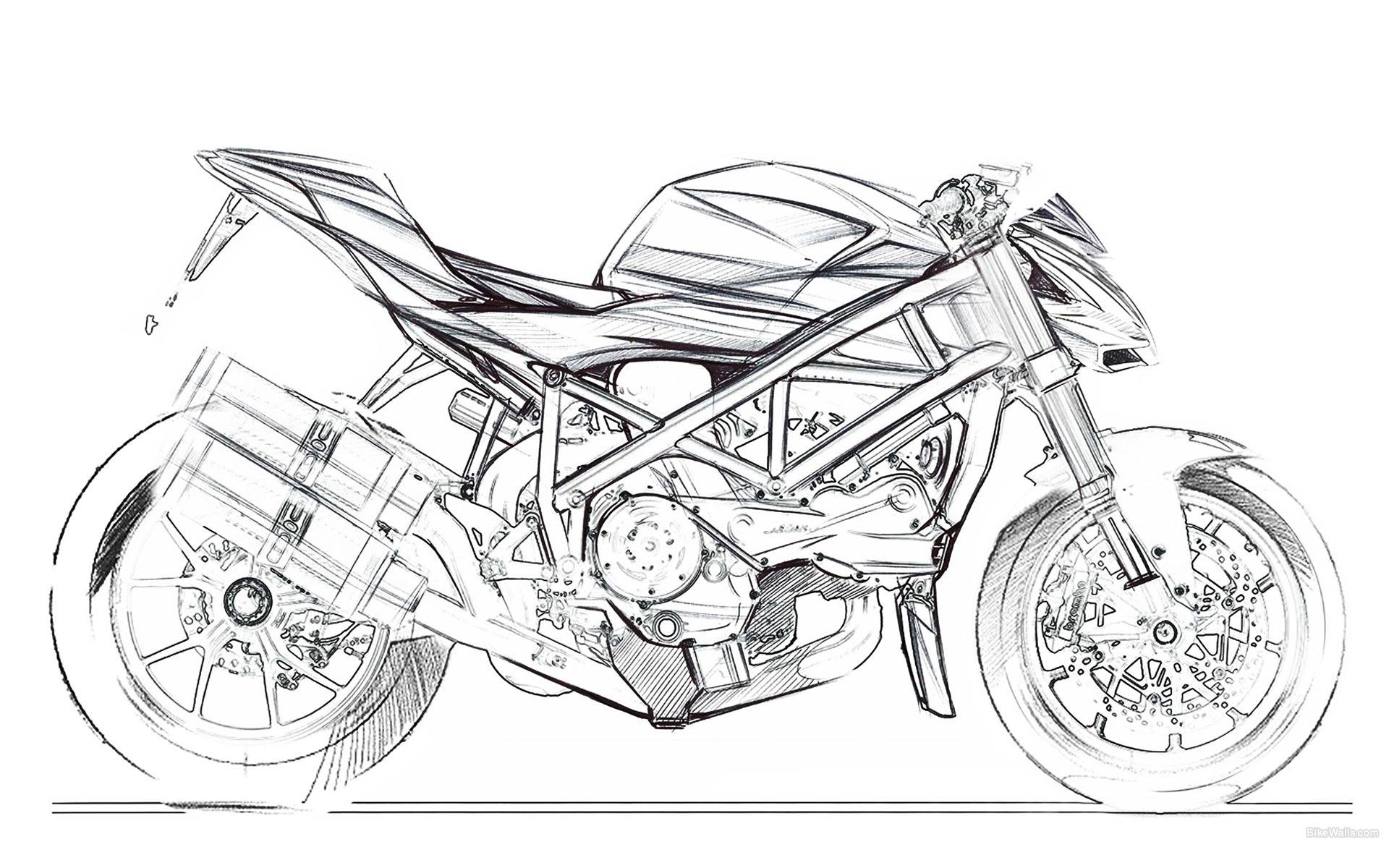 рисунки карандашом черно белые мотоцикла зданию