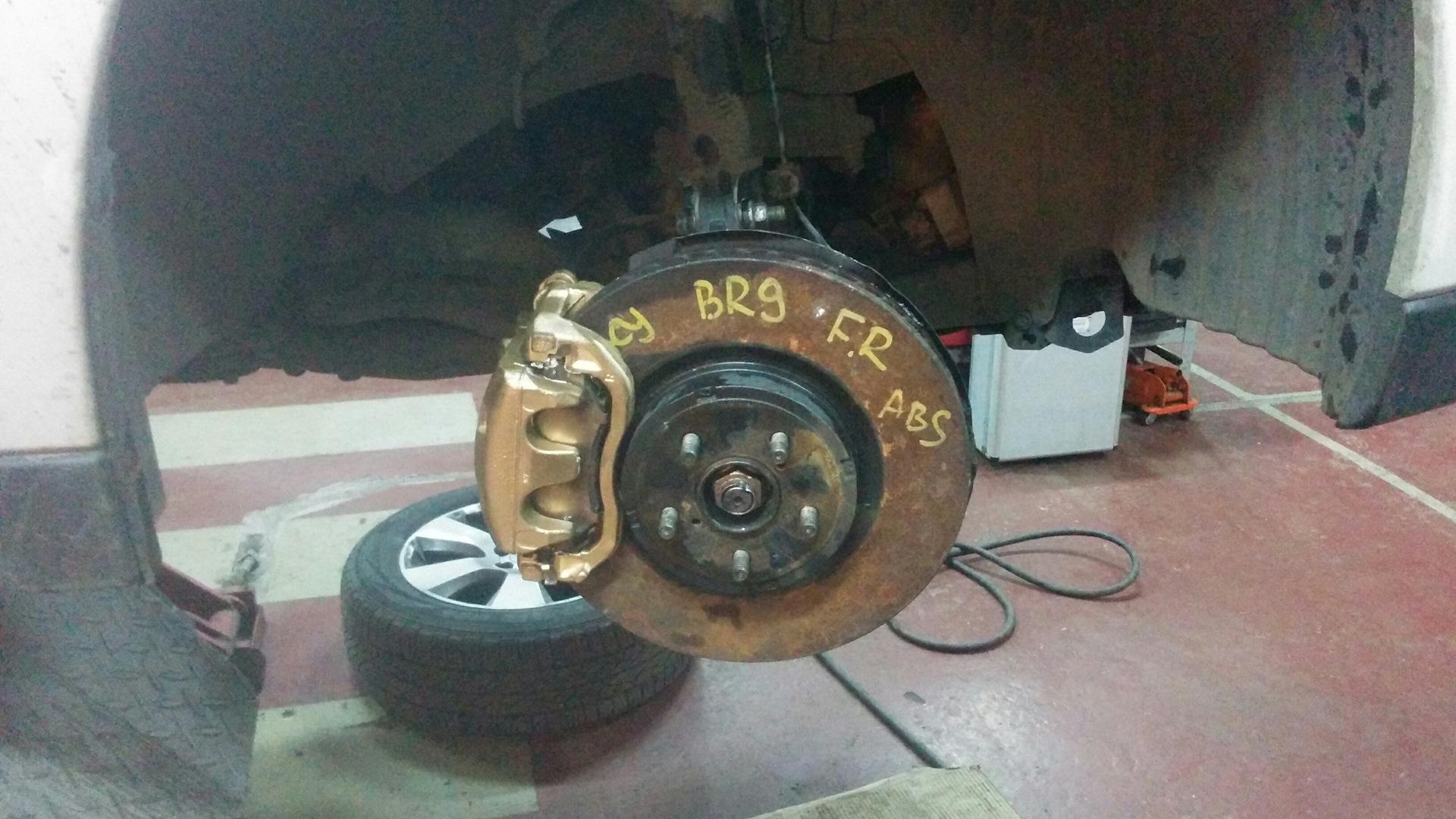 Замена суппорта в сборе аутбек Замена тормозных дисков x trail t31