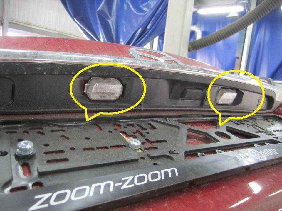 фото места установки камеры заднего вида mazda 6