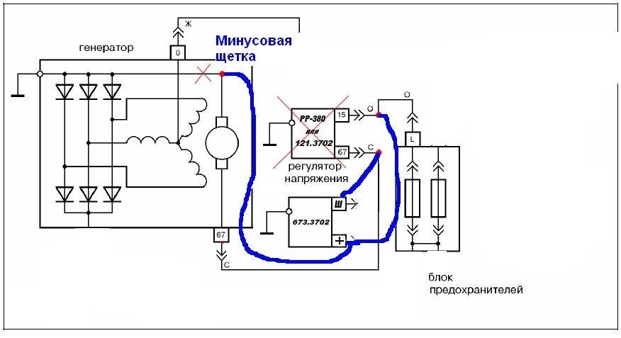 Схема генератора ваз 2106 регулятор фото 349
