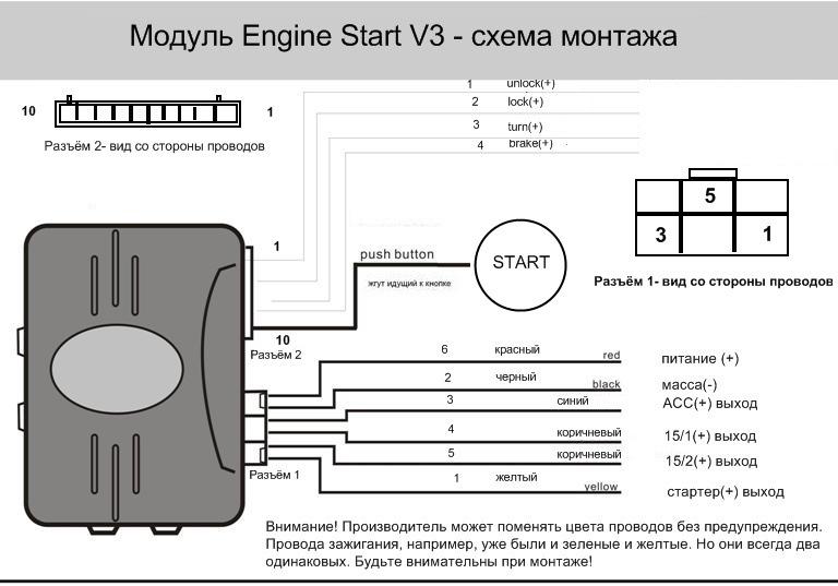 Smart start system схема подключения