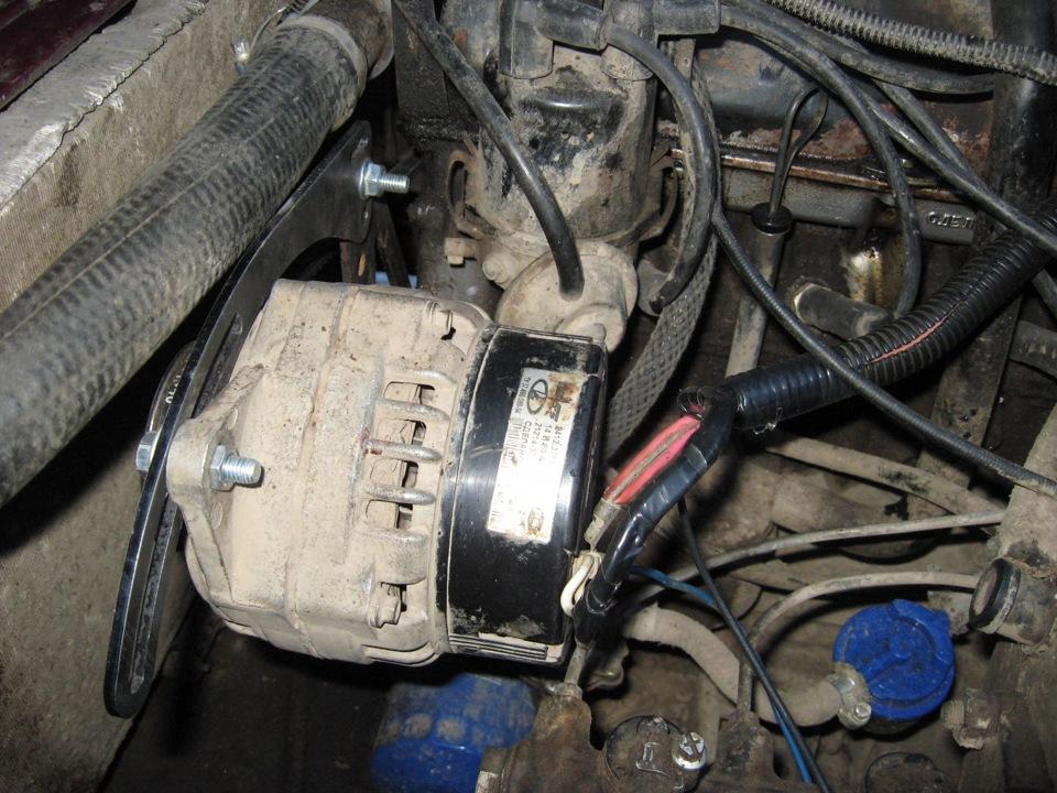 Перенос генератора КЗАТЭ 80А (пошаговая инструкция для карбюраторного ДВС) .