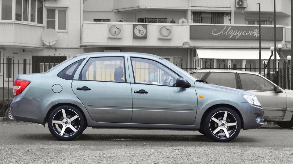 Рекомендованный размер шин и дисков Лада Гранта седан и