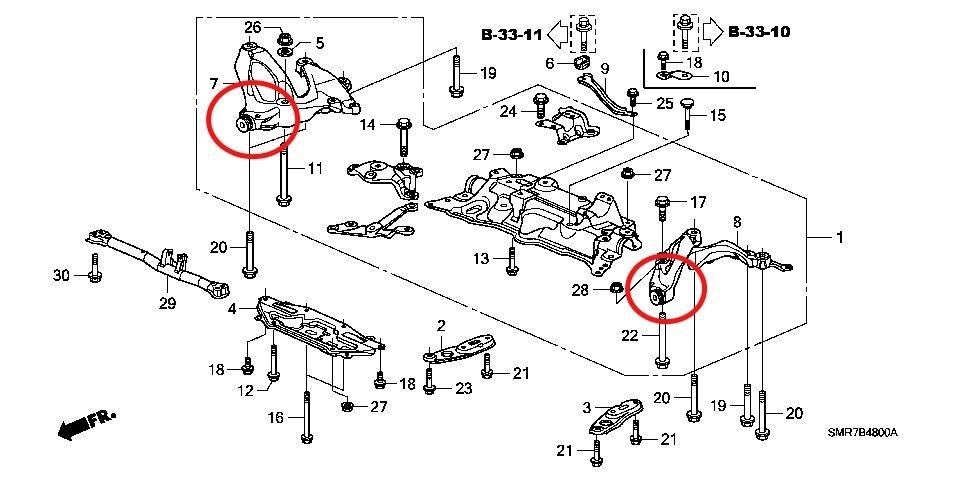 Схема подвески Сивик 5д 2006-