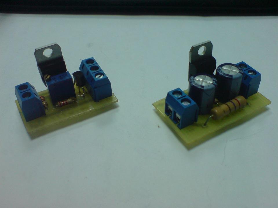 Стабилизатор LM317 и Подсветка с изменением яркости.