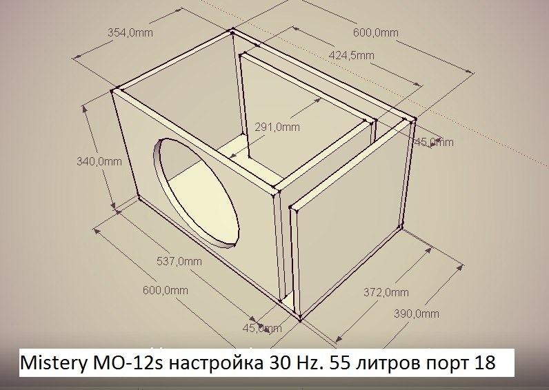 Самодельный короб для сабвуфера 12 дюймов