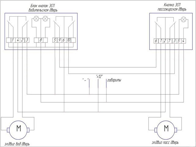 1 — провод от моторчика левой