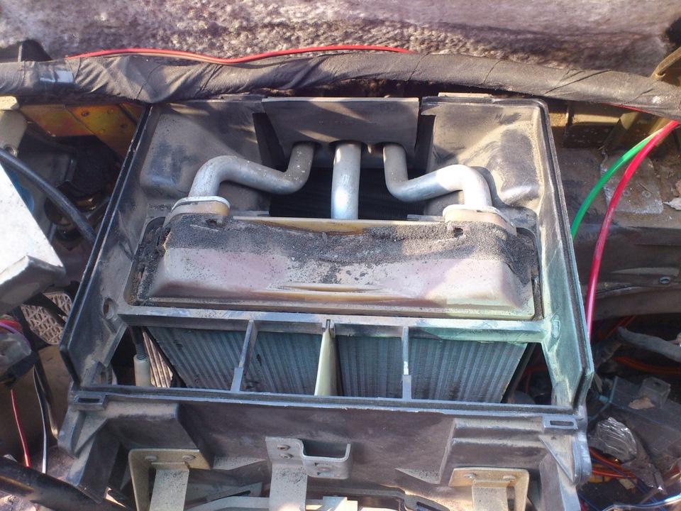 мерседес 124 заменить радиатор печки