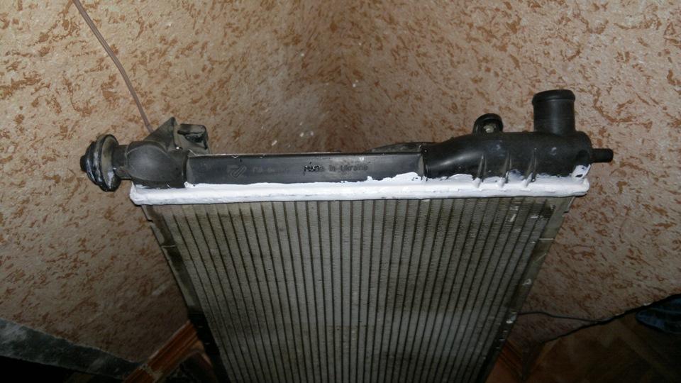 Ремонт радиатора охлаждения своими руками ланос
