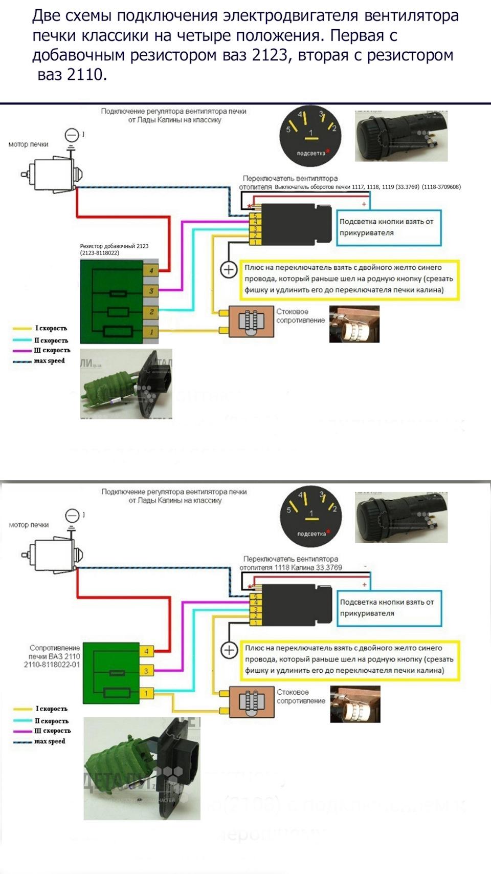 Схема подключения вентилятора на ваз 2109 через кнопку
