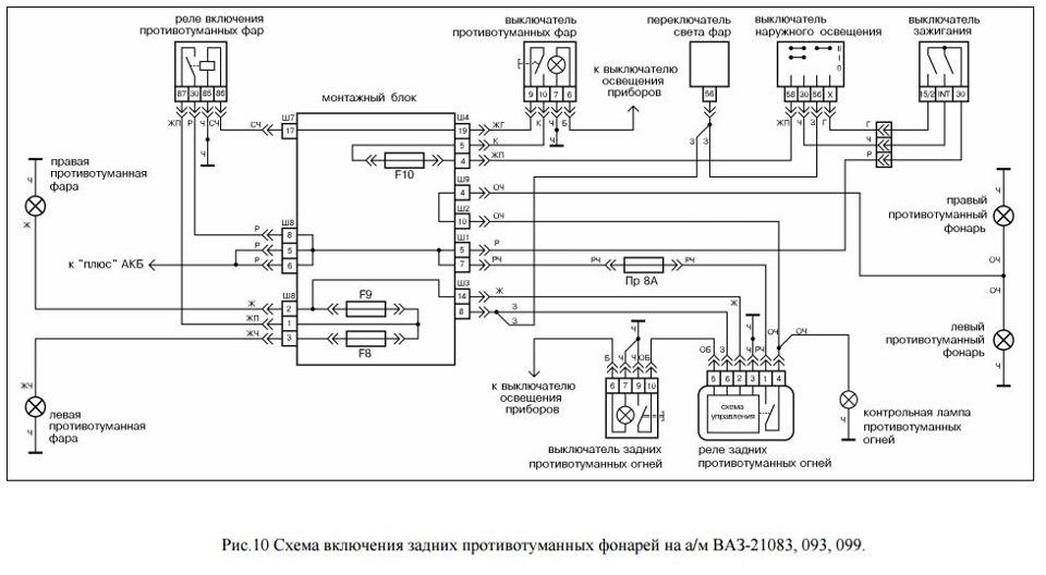 9aed0das 960 - Схема электрооборудования ваз 2109 карбюратор низкая панель