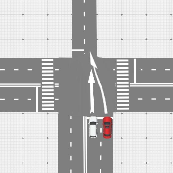 Спорная ситуация по очередности проезда перекрестка