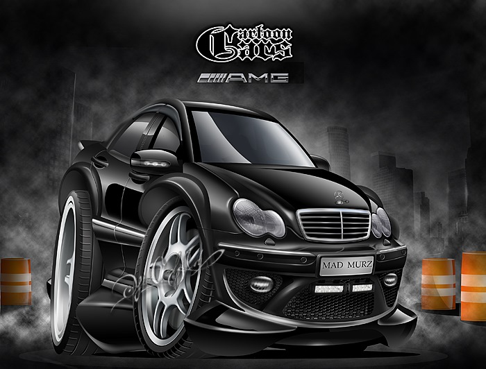122nd caricature mercedes c32 amg drive2. Black Bedroom Furniture Sets. Home Design Ideas